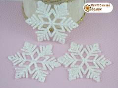 Пластиковый декор Белая снежинка № 7