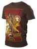 Футболка Варгградъ мужская коричневая «Железный ливень»