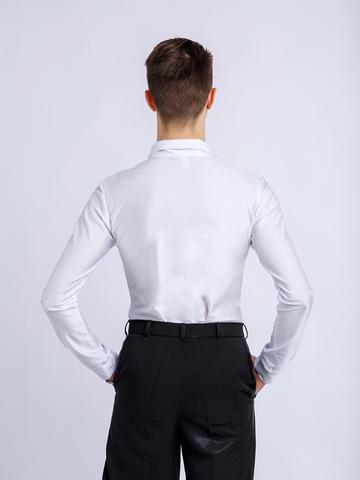 Рубашка-боди белая для танцев арт. Rew5