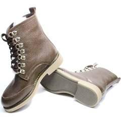 Женские ботинки на низком ходу зимние Studio27 576c Broun.