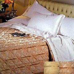 Покрывало 220х260 и две подушки Caleffi Villa d Oro розовое