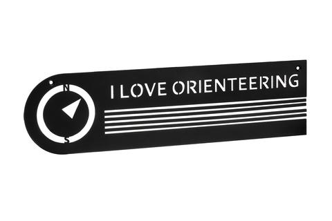 Держатель для медалей I love orienteering (black)