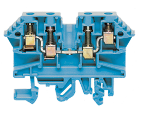 RK 2,5-4/ZRL BU проходная клемма синего цвета  Артикул 1211.5