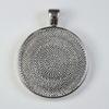 Сеттинг - основа - подвеска для камеи или кабошона 30 мм (цвет - античное серебро)