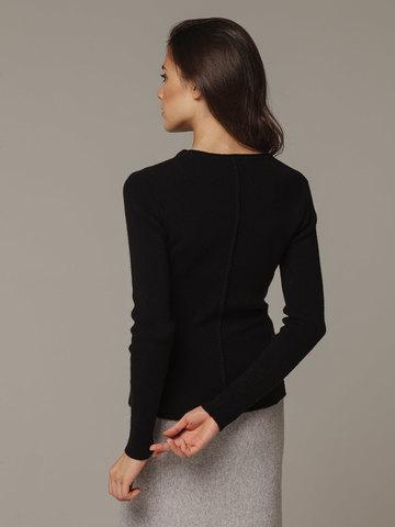 Женский черный джемпер из 100% кашемира - фото 2
