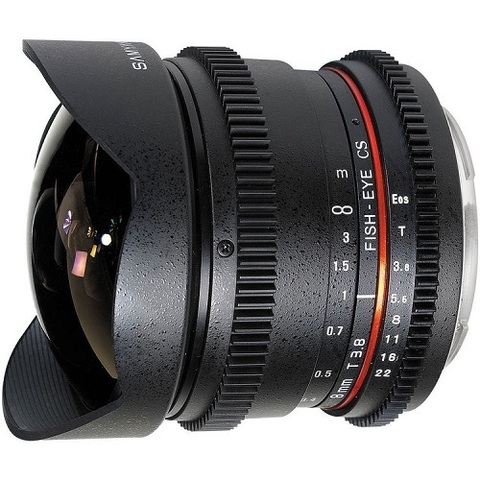 Объектив Samyang 8mm T3.8 IF AS MC CS VDSLR Fisheye Black для Nikon