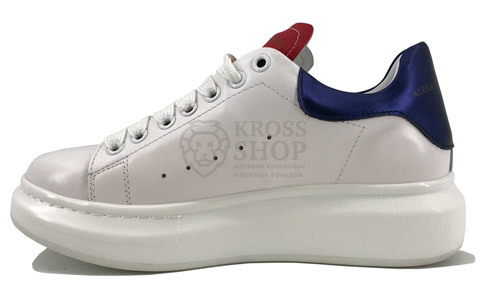 Alexander McQueen Women's White/Blue/Red