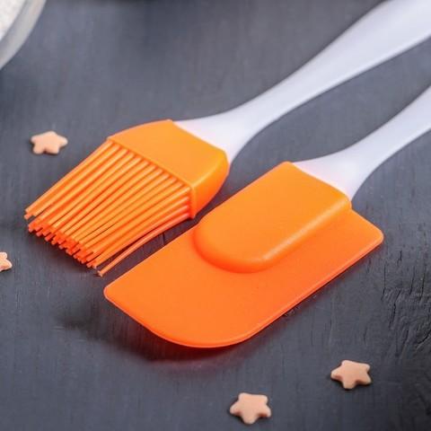 Набор для выпечки 2 предмета: лопатка, кисть