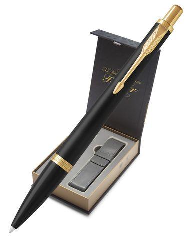 Подарочный набор: Чехол под ручку и Шарикоая ручка  Parker Urban, цвет: Muted Black GT123