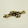 """Подвеска TierraCast """"Крест"""" (цвет-античное золото) 27х18 мм"""
