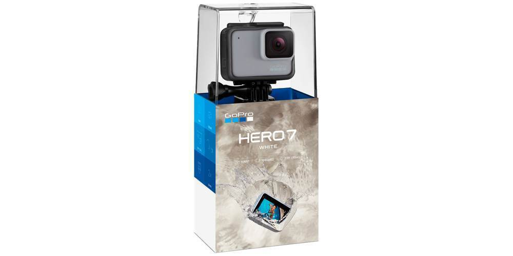 Экшн-камера GoPro HERO7 White Edition (CHDHB-601-LE) в упаковке