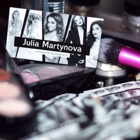 Макет визиток для стилиста Julia Martynova
