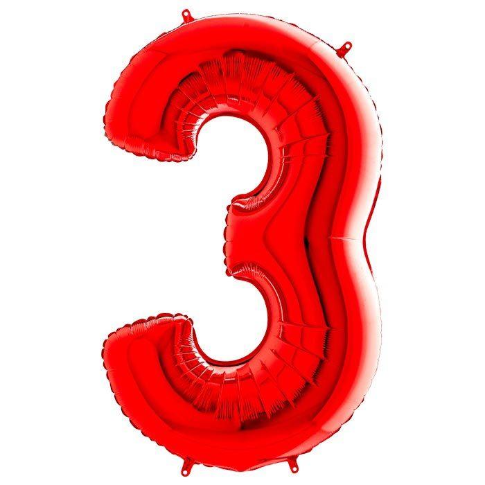Фольгированные шарики в виде цифр Шар цифра 3 Красная 1207-2988.jpg