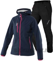 Женский лыжный утепленный костюм 8848 Altitude Snake Softshell Noname Grassi
