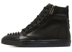 Кеды Мужские Philipp Plein Hi-Top Spikes Classic Leather (с Мехом)