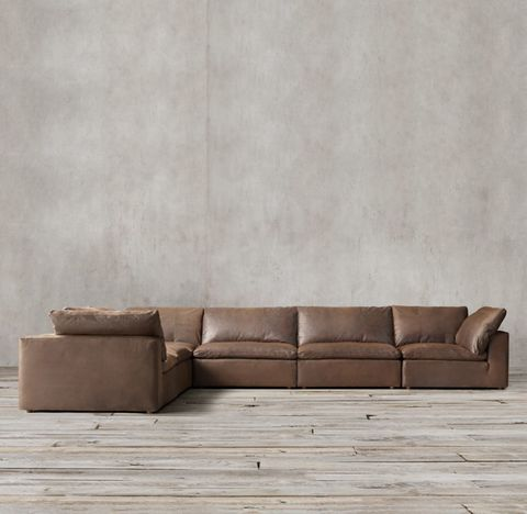 Cloud Modular Leather L-Sectional