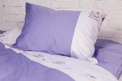Детское постельное белье German Grass Kinder Hanna бело-фиолетовое вышивка