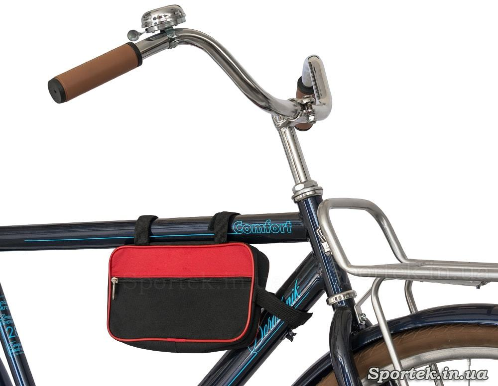 Велосумка на раме велосипеда