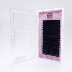 Ресницы черные Enigma, изгиб L+ (16 линий)
