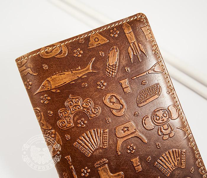 BY14-14-01 Прикольная обложка на паспорт «Русские Традиции» фото 03