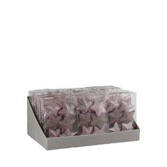 Набор елочных игрушек 6шт 8x0.5см House of Seasons Звезда розовый