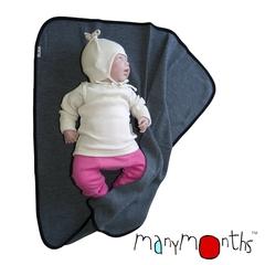 Плед детский ManyMonths, 75 x 75 см, Серый меланж (шерсть мериноса 100%)