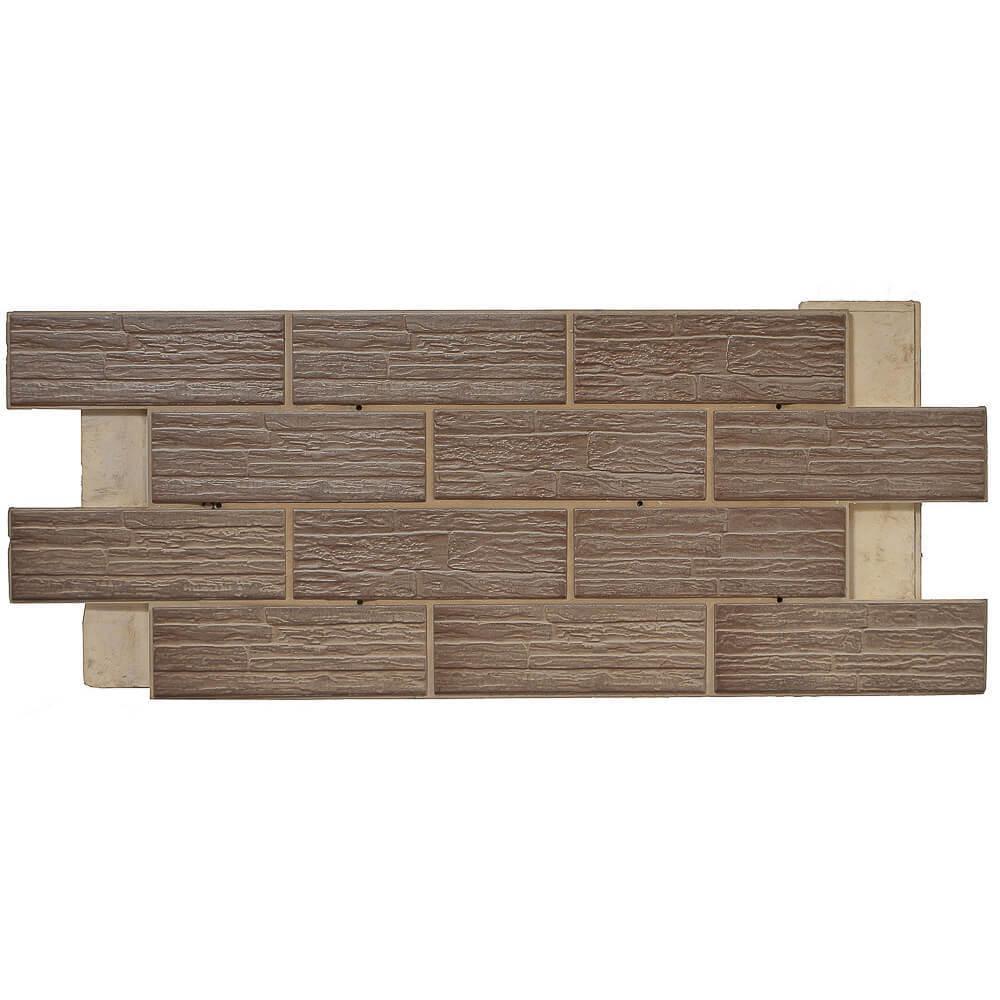 Термопанель фасадная клинкерная Регент, цокольный элемент, плитка Сокол, цвет SL3, толщина 80 мм
