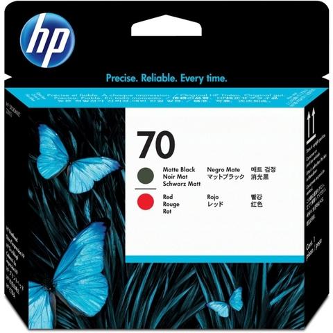 Печатающая головка №70 для HP DesignJet Z2100/Z3100/Z3200 матовый черный и красный (C9409A)