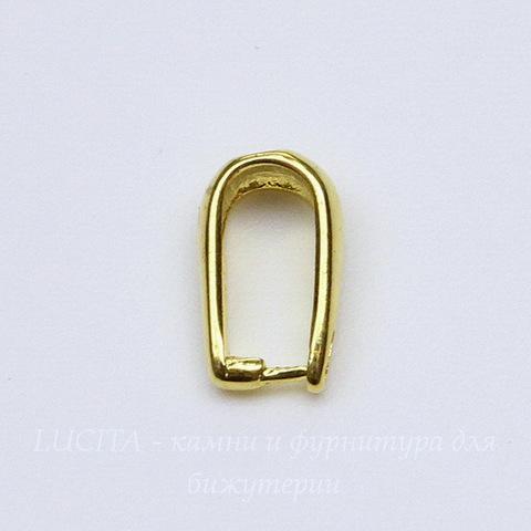 Держатель кулона - простая петелька 10х6 мм (цвет - золото)