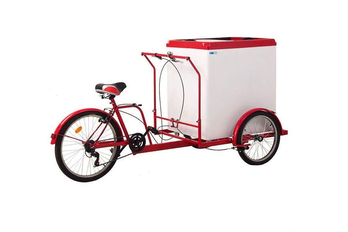 Трехколесный велосипед 'Кофейный' с ларьком для мороженного