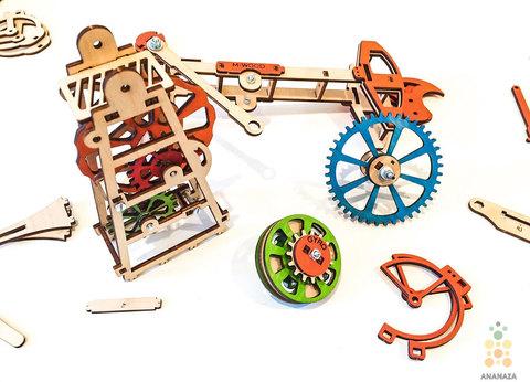 Деревянный конструктор - Нефтяная вышка (M-WOOD)