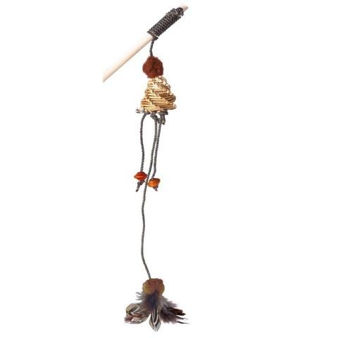 NEMS игрушка дразнилка для кошки на деревянной палке (с погремушкой)