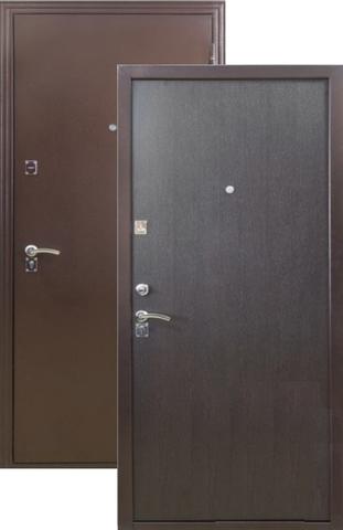 Дверь входная Меги ДС-180, 2 замка, 1 мм  металл, (медь+венге)
