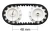Комплект катков и гусениц Pololu (35 мм, 22 зуба)