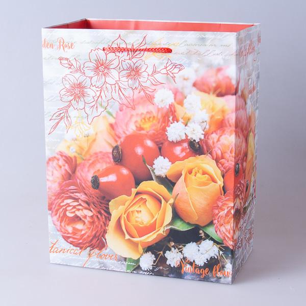 Пакет подарочный бумажный 18*23*10см, 640302-4
