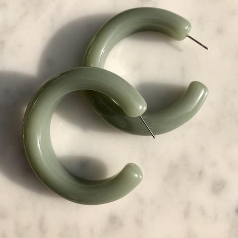 Серьги Лоли, бледно-зеленый
