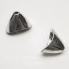 """Концевик """"Плоский конус"""" (цвет - античное серебро) 20х14х11 мм, 2 штуки"""