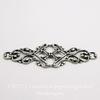 Винтажный декоративный элемент - филигрань 45х17 мм (оксид серебра)