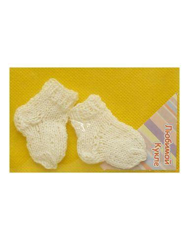Носки - Белый. Одежда для кукол, пупсов и мягких игрушек.