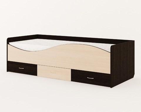 Кровать ВОЛНА КР-06 венге / дуб беленый