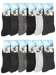B25 носки мужские 42-48 (12шт), цветные