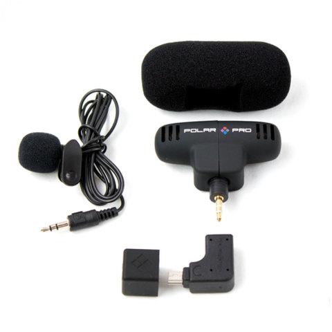 PolarPro Microphone Kit - Набор микрофонов для Hero4/3/3+ (стерео + петличка)