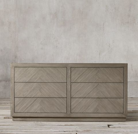 Herringbone 6-drawer Dresser