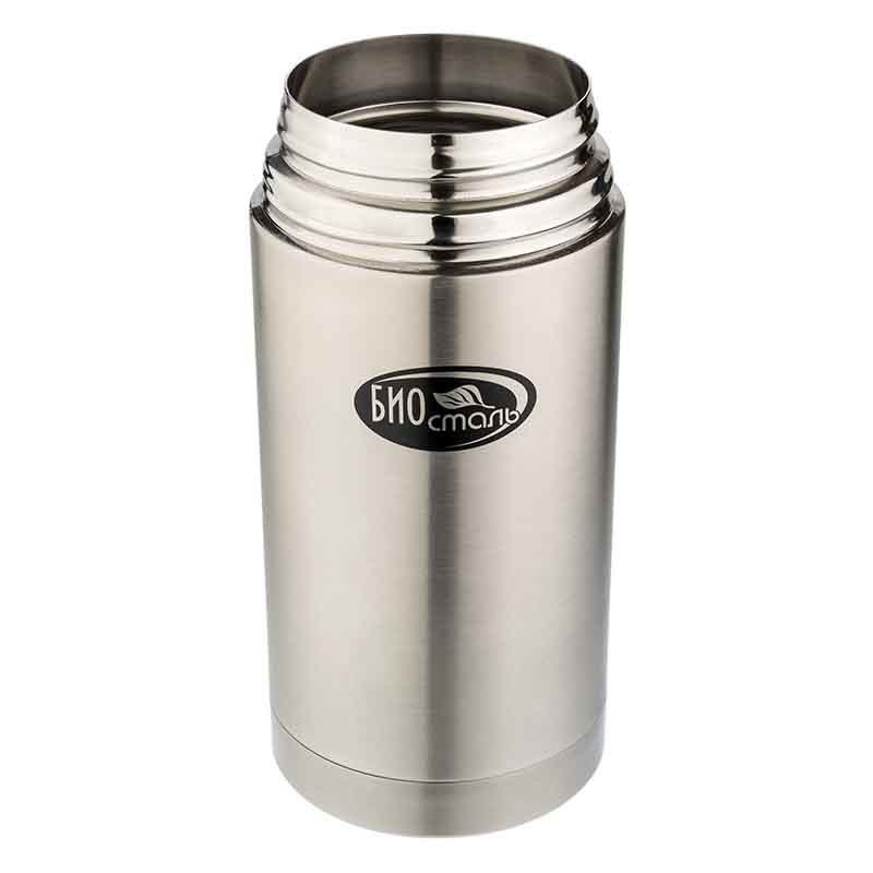 Термос для еды Biostal (1,2 литра) в чехле, стальной