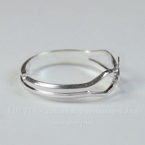 Основа для кольца с круглой площадкой 6 мм (цвет - серебро)