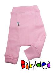 Пеленальные штанишки  длинные Babyidea Wool Longies, Нежно-розовый (шерсть мериноса 100%)