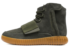Кеды Мужские Adidas Yeezy Boost 750 Dark Grey Green