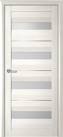 Дверь Фрегат ALBERO Барселона, стекло матовое, цвет кипарис белый, остекленная