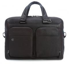 Портфель для ноутбука кожаный Piquadro, Black Square CA2849B3/TM