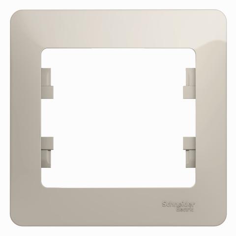 Рамка на 1 пост. Цвет Молочный. Schneider Electric Glossa. GSL000901